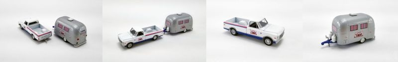 #GL-51339 - 1:64 - 2020 Acme Trading Company - 1968 Chevrolet C-10 with Airstream 16' Bambi Sport (SCTA) - (Acme Exclusive)