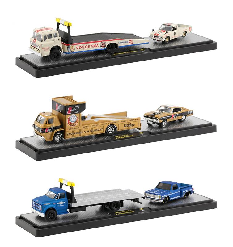 #36000-37-SET - M2 – 1:64 – Auto-Haulers – Release 37 – Set (3 Auto-Haulers/3 cars)