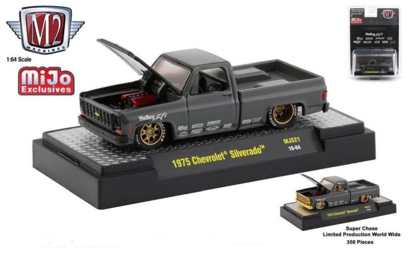 M2 - 1:64 - Auto-Trucks - 1975 Chevy Silverado - Holley Custom - (MiJo Exclusive) - LIMITED to 3,850 pieces