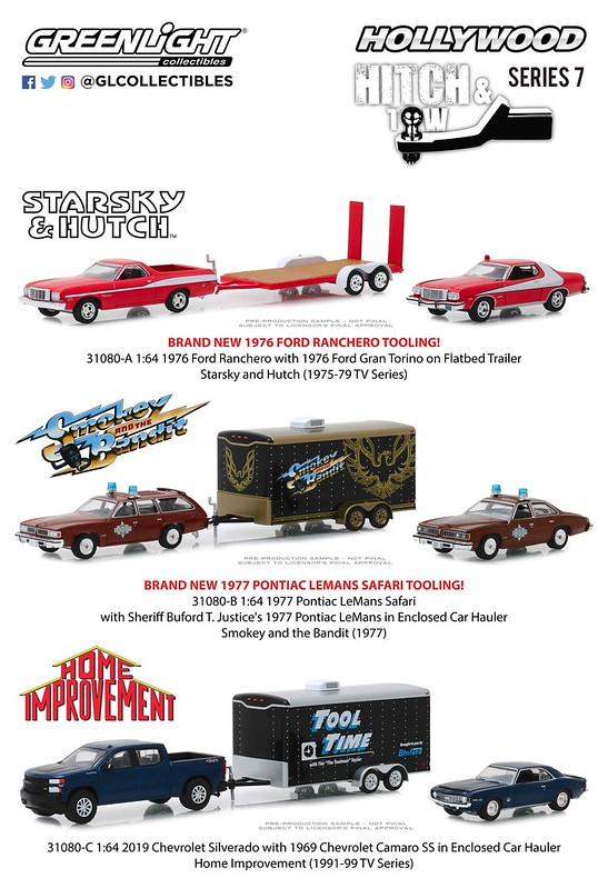 GreenLight 1:64 Smokey and the Bandit 1977 Pontiac LeMans Sheriff Hauler 31080-B
