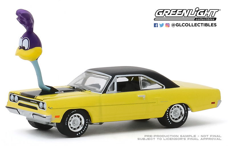 #30088 - 1:64 - GREENLIGHT - 1970 Plymouth Road Runner with The Loved Bird Road Runner Air Grabber Figure (Hobby Exclusive)