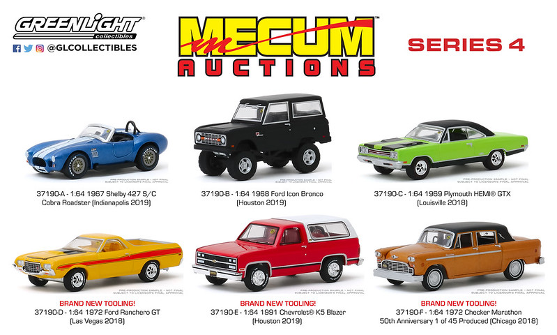 #37190 - 1:64 - GREENLIGHT - Mecum Auctions Collector Cars - Series 4