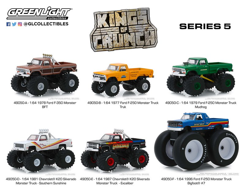 #49050 - 1:64 - GREENLIGHT - Kings of Crunch - Series 5