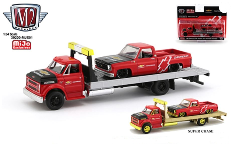 #39200-MJS01 - M2 - 1:64 - Auto-Haulers - Chevrolet C60 Rollback & 1979 Chevrolet C10 Fleetside Custom