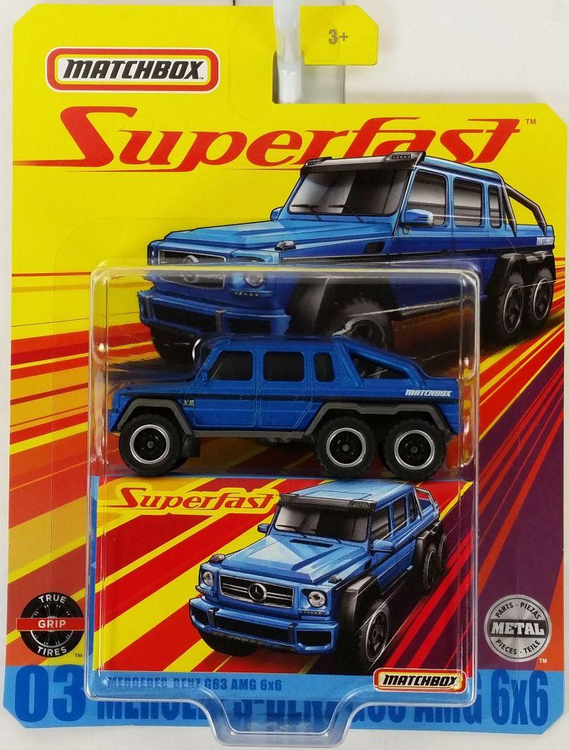 #GBJ48-956D-GKP44 - 2020 Matchbox - 1:64 - Superfast - #3 Mercedes-Benz G63 AMG 6x6